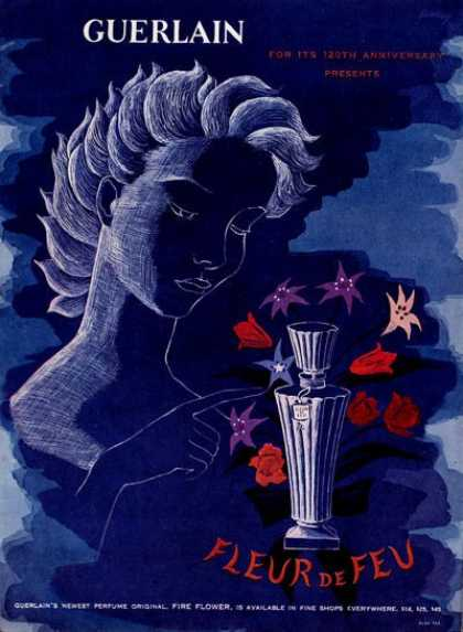 Guerlain Fleur De Feu Bottle Art (1949)
