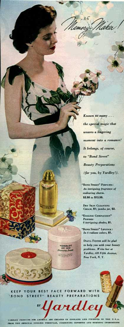 Yardley of London's Bond Street Beauty Preparations – Memory Maker (1943)