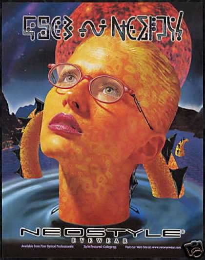Neo-style Eyewear Glasses Sea Monster Art (1997)