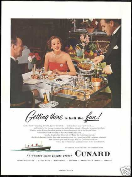 Cunard Cruise Line More People Prefer Photo (1952)