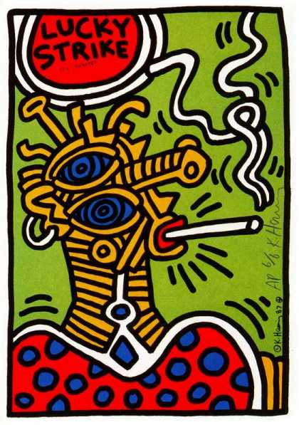Lucky Strike III – Keith Haring (1987)
