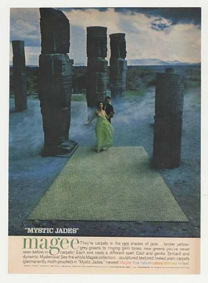 Magee Mystic Jades Carpet Stone Statues (1960)