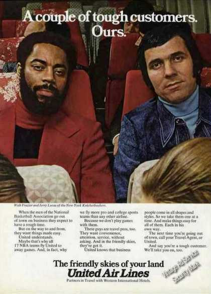 Walt Frazier & Jerry Lucas United Air Lines (1973)