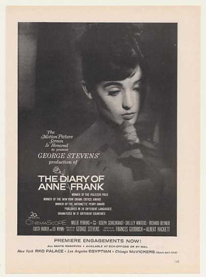 The Diary of Anne Frank Movie Premiere (1959)