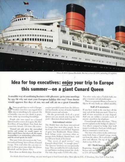 Rms Queen Elizabeth Photo Cunard Travel (1963)