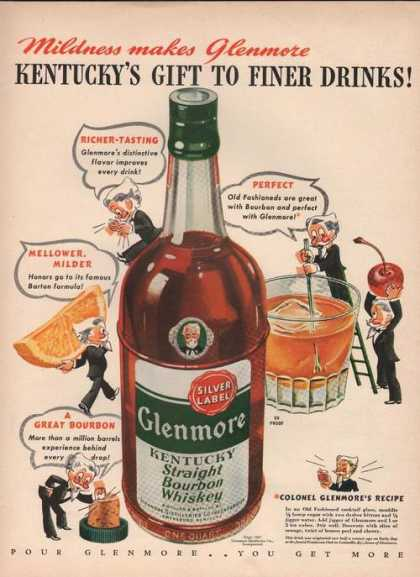 Kentuckys Gift To Finer Drinks Glenmore Wh (1942)