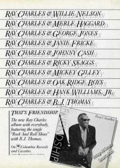 Ray Charles Photo Friendship Album Promo (1984)