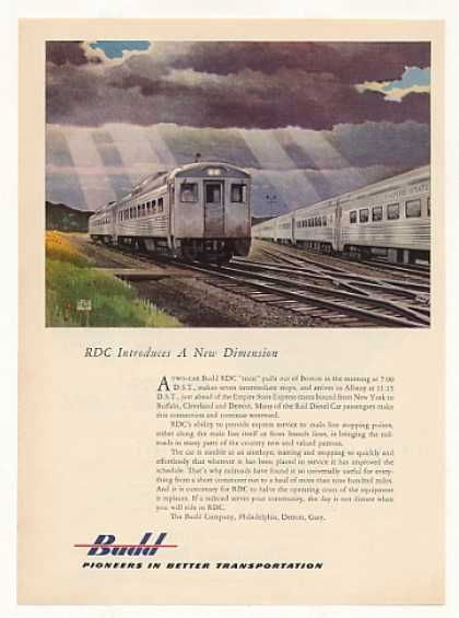 Budd RDC Boston Empire State Express Train (1953)