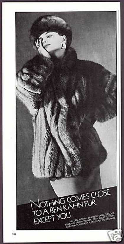Ben Kahn Sable Fur Jacket Photo (1983)