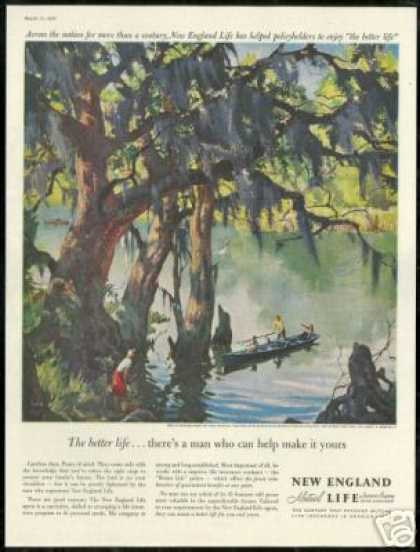 Louisiana Bayou Art New England Life Insurance (1960)