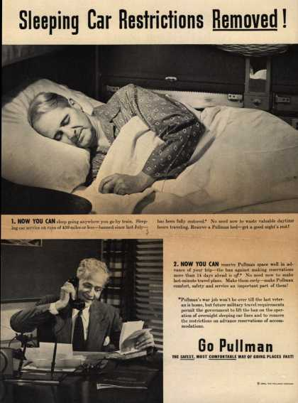 Pullman Company – Sleeping Car Restrictions Removed (1946)