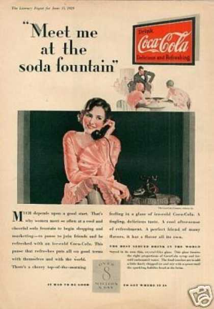 "Coca-cola Color Ad ""Meet Me at the Soda... (1929)"