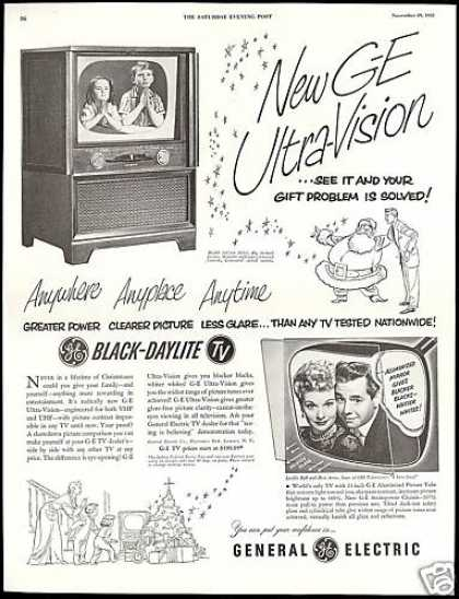 General Electric TV Lucille Ball Desi Arnaz (1952)