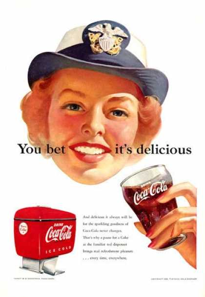 Coke Coca Cola Woman Wave Fountain (1952)