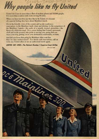 United Air Lines – Why people like to fly United (1950)