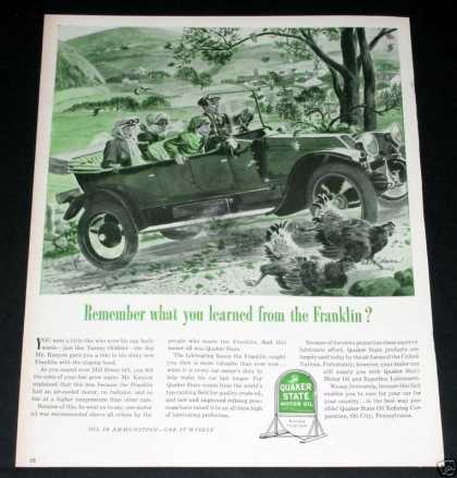 Quaker State Oil, Franklin Auto (1944)