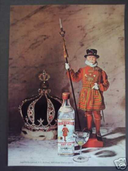 Beefeater London Dry Gin Bottle (1965)