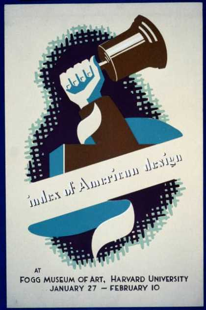 Index of American Design at Fogg Museum of Art, Harvard University. (1936)