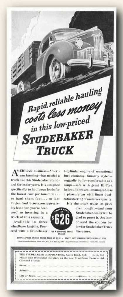 Studebaker Truck Collectible Antique (1941)