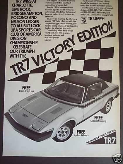 Triumph Tr7 Victory Edition Racing Stripes Car (1976)