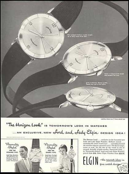 Lord Elgin Shockmaster Horizon Look Watch (1957)