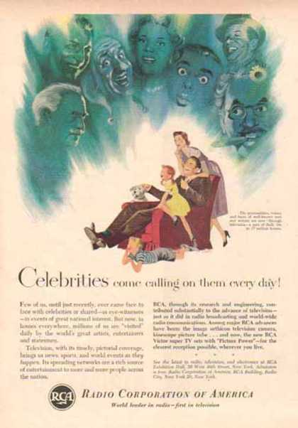 RCA Corporation of America – Celebrities come calling (1942)