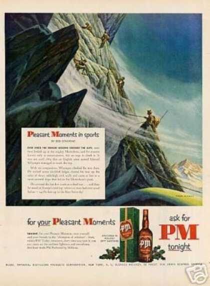 Pm Whiskey Ad Paul Rabut Art (1951)
