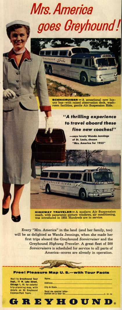 Greyhound – Mrs. America goes Greyhound (1954)