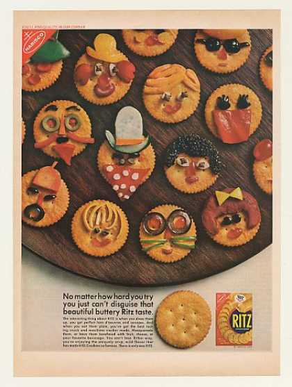 '68 Nabisco Ritz Crackers Faces Can't Disguise Taste (1968)