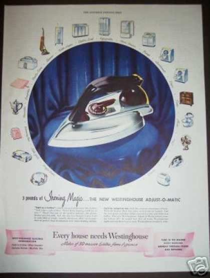 Original Westinghouse Adjust-o-matic Iron (1948)