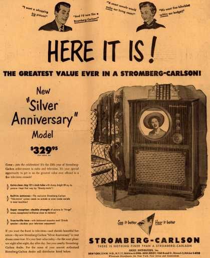 "Stromberg-Carlson Television's ""Silver Anniversary"" Model – Here It Is (1949)"