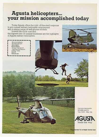 Agusta Military Helicopters Photo (1977)