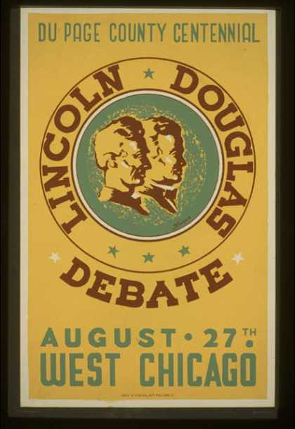 Lincoln Douglas debate – Du Page County Centennial, August 27th, West Chicago / Kreger. (1936)