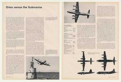 Lockheed P-3 Orion Aircraft vs Submarine Article (1963)