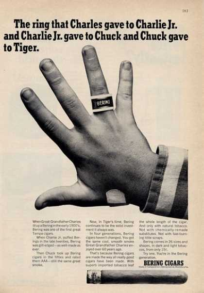 Bering Cigars the Ring That Charles Gave (1965)