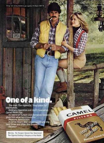 Camel Filters One of a Kind Girl On Rail (1979)