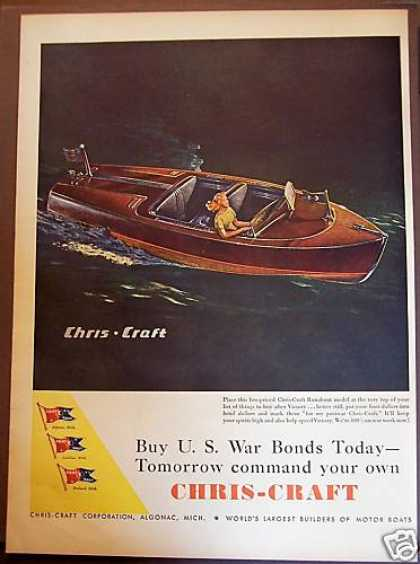 Chris-craft Boats Lady In Boat (1944)
