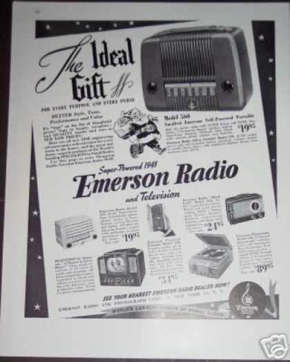 Emerson Radio & Tv 6 Models (1947)