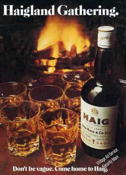 "Haig Scotch Whiskey ""Don't Be Vague"" Nice Uk (1976)"