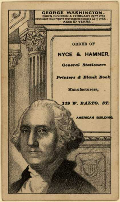 Nyce & Hamner's General Stationers, Printers & Blank Book Manufacturers – George Washington