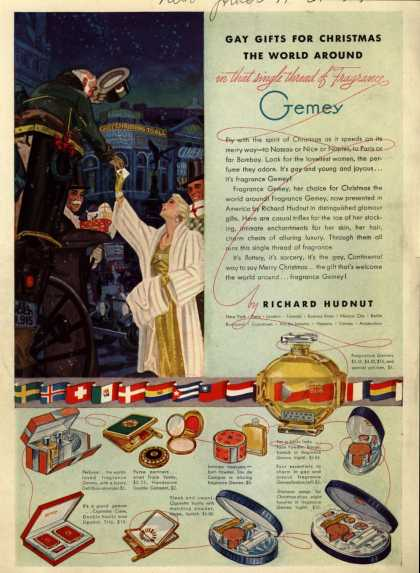 Richard Hudnut's Fragrance Gemey gifts – Gay Gifts for Christmas The World Around in that single thread of Fragrance Gemey (1937)