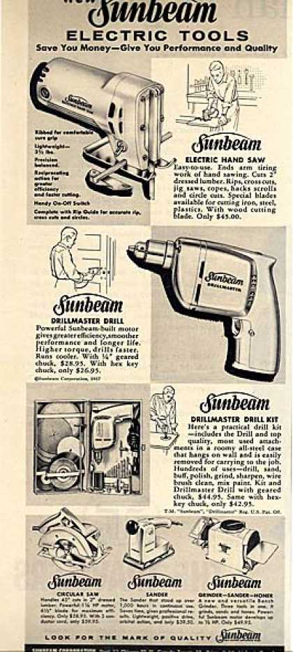 Sunbeam's Electric Tools (1957)