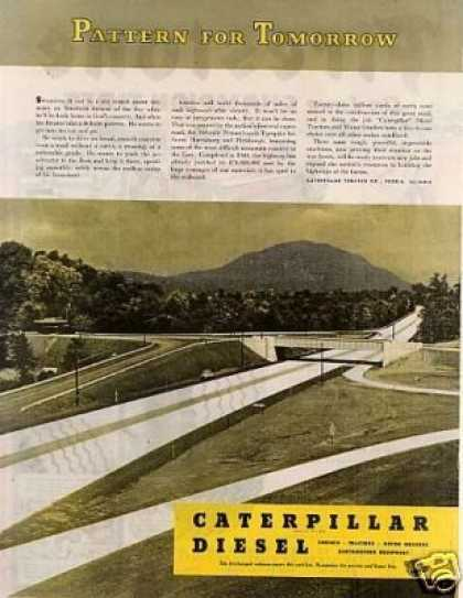 "Caterpillar Ad ""Pattern for Tomorrow... (1945)"