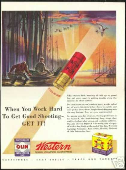 Duck Hunter Western Shotgun Shells Olin (1946)