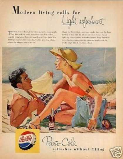 "Pepsi-cola Ad ""Modern Livings Calls For... (1953)"