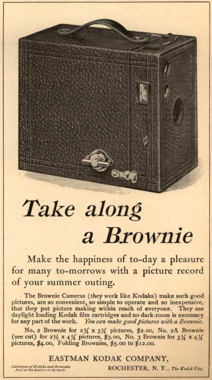 Kodak's Brownie cameras – Take along a Brownie (1911)