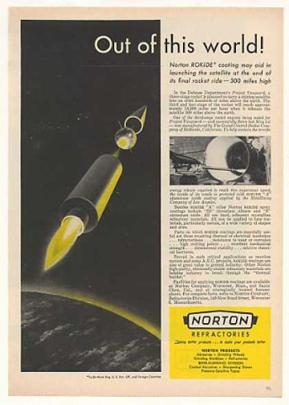'57 Norton Rokide Coating Project Vanguard Satellite (1957)