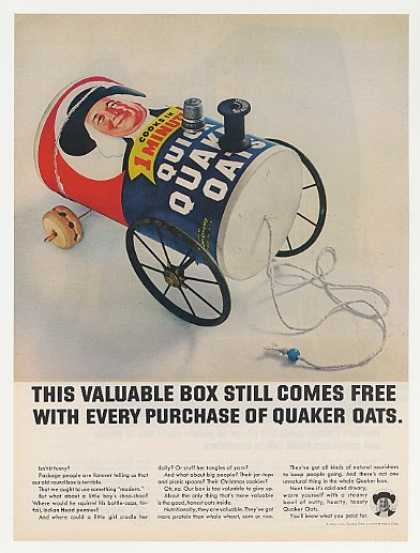 Quaker Oats Valuable Box Choo-Choo Train Photo (1965)