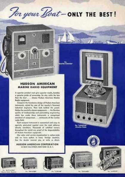 Hudson American Marine Radio Equipment (1949)
