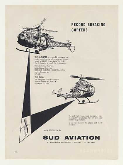 Sud Aviation Alouette Djinn Helicopters (1959)